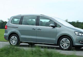 Nye VW Sharan som varebil