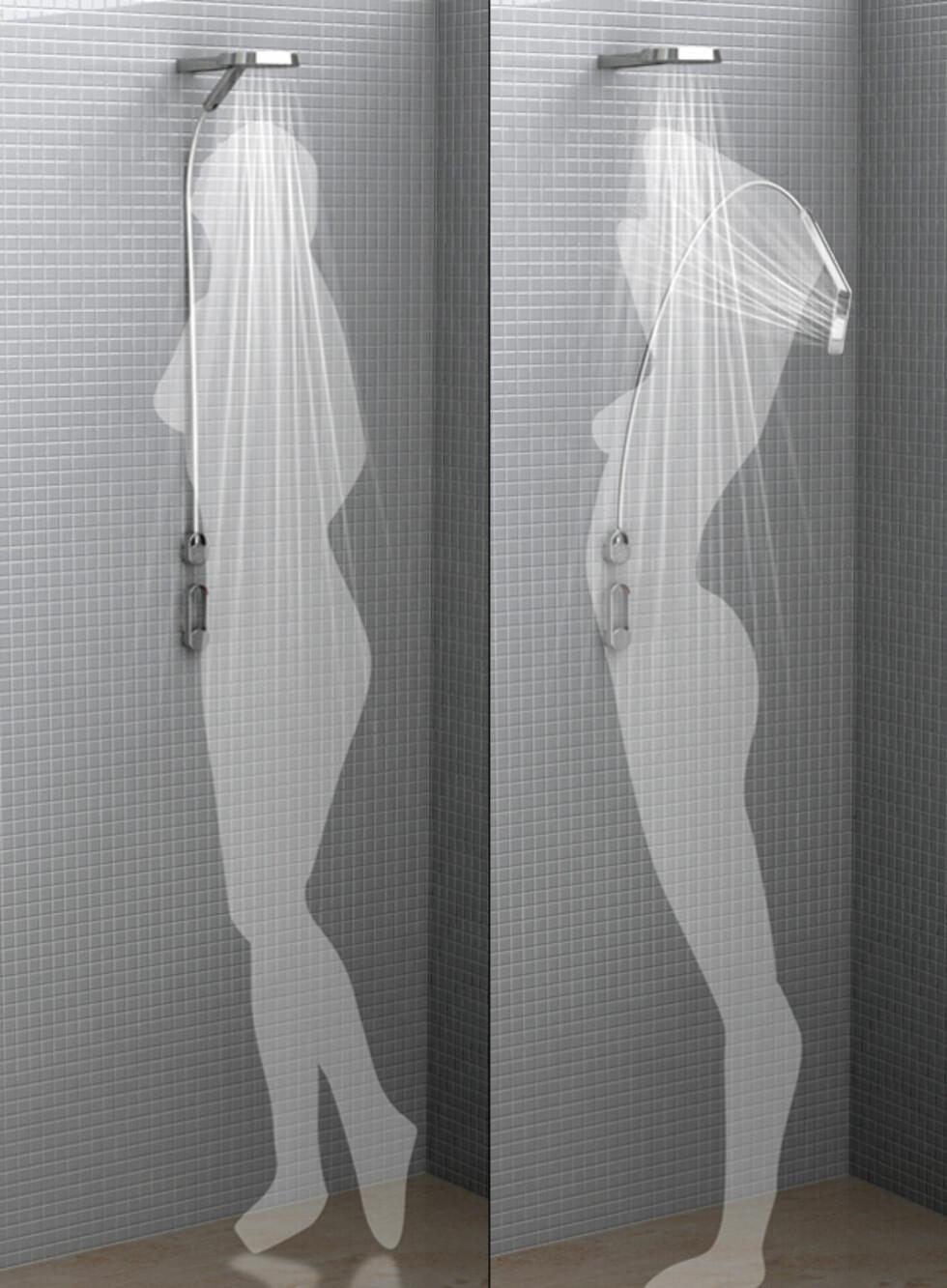 Kan brukes som en vanlig dusj, eller som dobbeldusj. Foto: yankodesign.com
