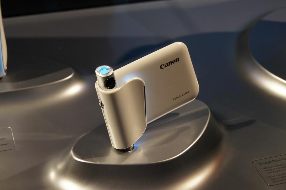 Dette kameraet er spesialdesignet for augmented reality, slik at du kan se ekstra informasjon om hva du ser på basert på posisjonen din. Dette er for så vidt ikke så veldig ulikt det Layar tilbyr på diverse mobiltelefoner allerede i dag. Foto: Pål Joakim Olsen