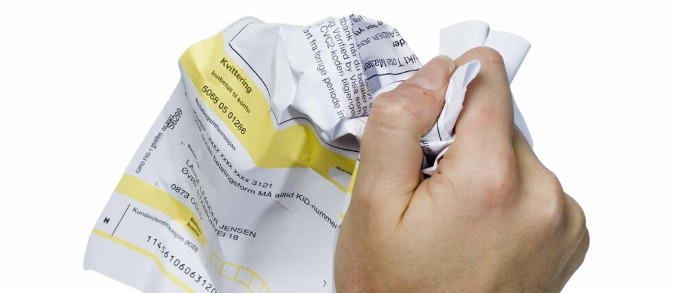 Noen firmaer spekulerer i å skremme deg med purringer. Ikke betal hvis du er uenig i kravet! Foto: COLOURBOX