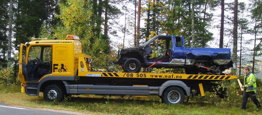 Denne bilen ble meldt stjålet, men i stedet var det eieren som hadde dumpet bilen satset på at ingen skulle finne den. Slik gikk det ikke Foto: STOREBRAND