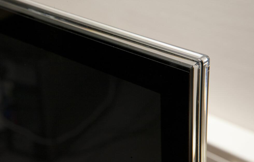 Se glasskanten ytterst, og hvor mørk skjermen er. Foto: Per Ervland