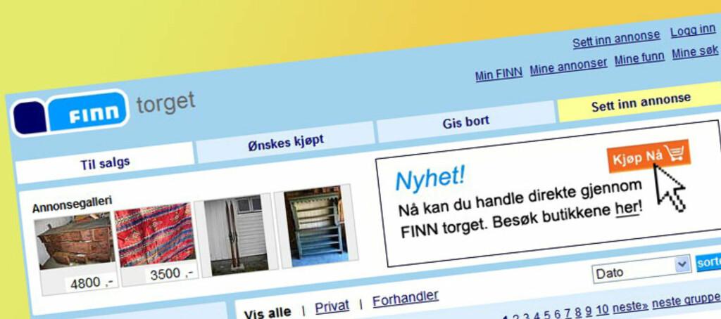 Det blir publisert 50.000 nye annonser på Finn Torget hver uke.  Foto: Finn.no