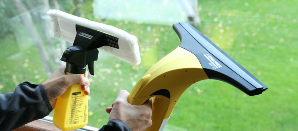 Kärchers vindusvasker koster 700 kroner.  Foto: Einar Ryvarden