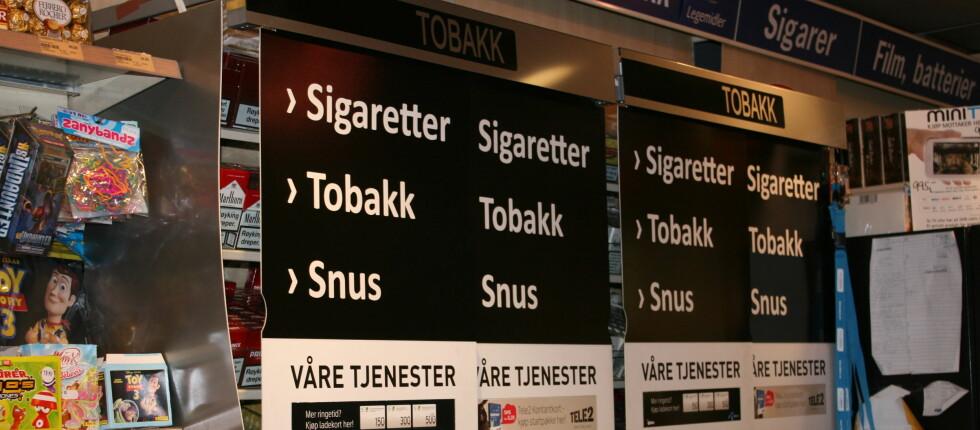 Slik løser noen av landets kiosker pålegget om å skjule tobakksvarene. Foto: Kristina Picard