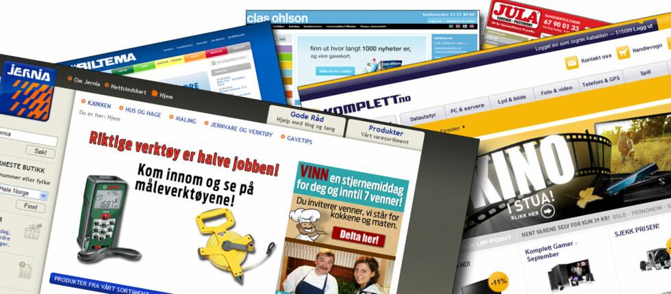 Jernia og Komplett vil lansere nettbutikken jernia.no før jul. Den nye nettbutikken vil utfordre det svenske trekløveret Biltema, Clas Ohlson og Jula, hvorav de to sistnevnte allerede har nettbutikker. Foto: Jogrim Aabakken