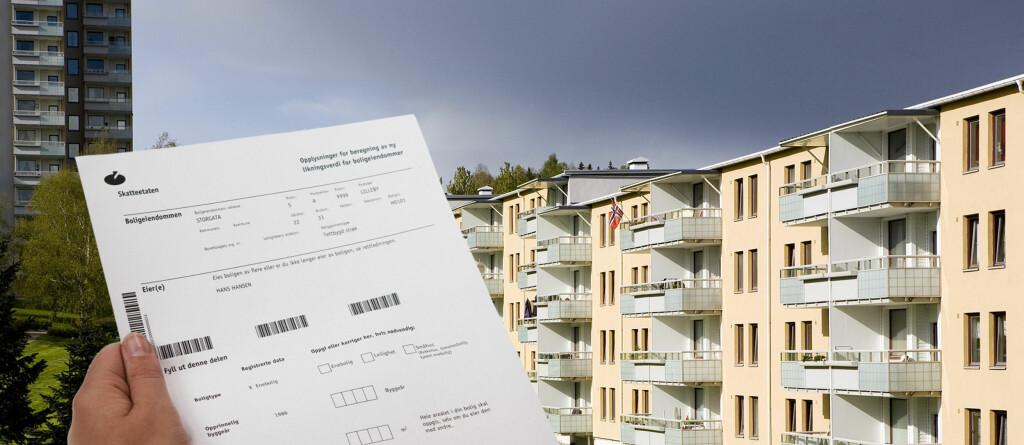 En halv million norske boliger vil få for høy ligningsverdi.  Foto: PER ERVLAND