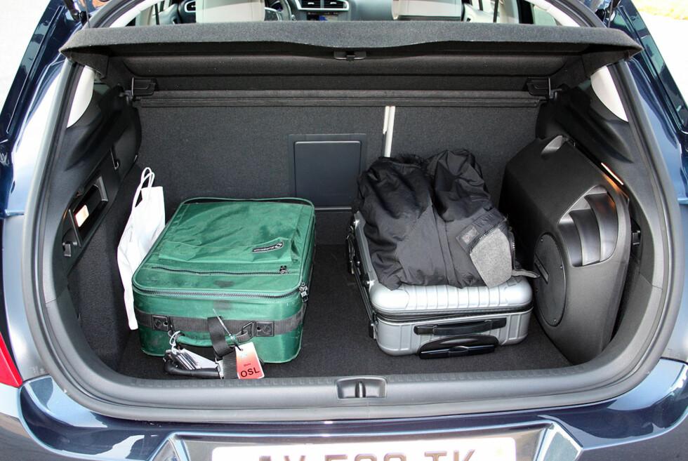Over gjennomsnittet bagasjeplass. Foto: Knut Moberg