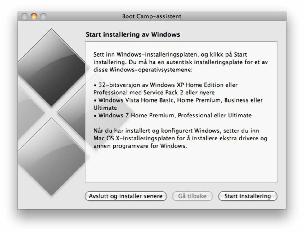 Windows på Mac? Slik gjør du