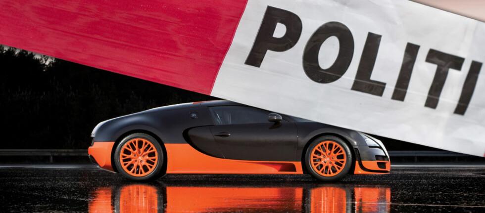 INNDRAGELSE: Bugatti Veyron 16.4 Super Sport er verdens raskeste produksjonsbil. Det får ikke den nederlandske familien nyte godt av etter fartsovertredelsen du kan lese om her.