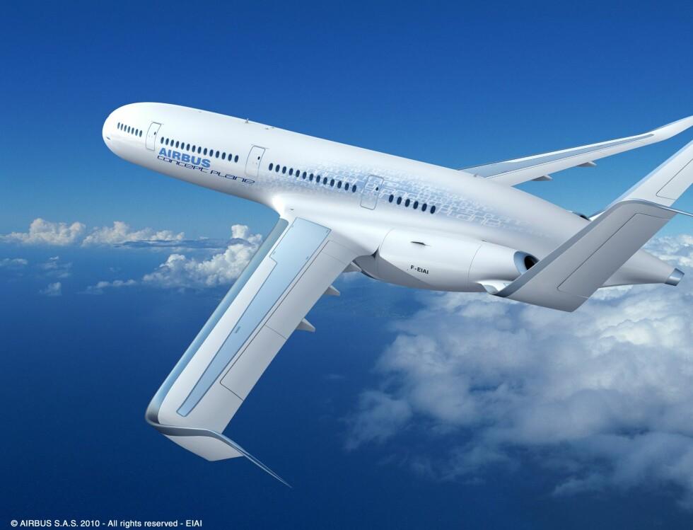 Motoren til flyet skal være mye stillere enn normalt, og komforten er det ikke noe å si på! Foto: Airbus