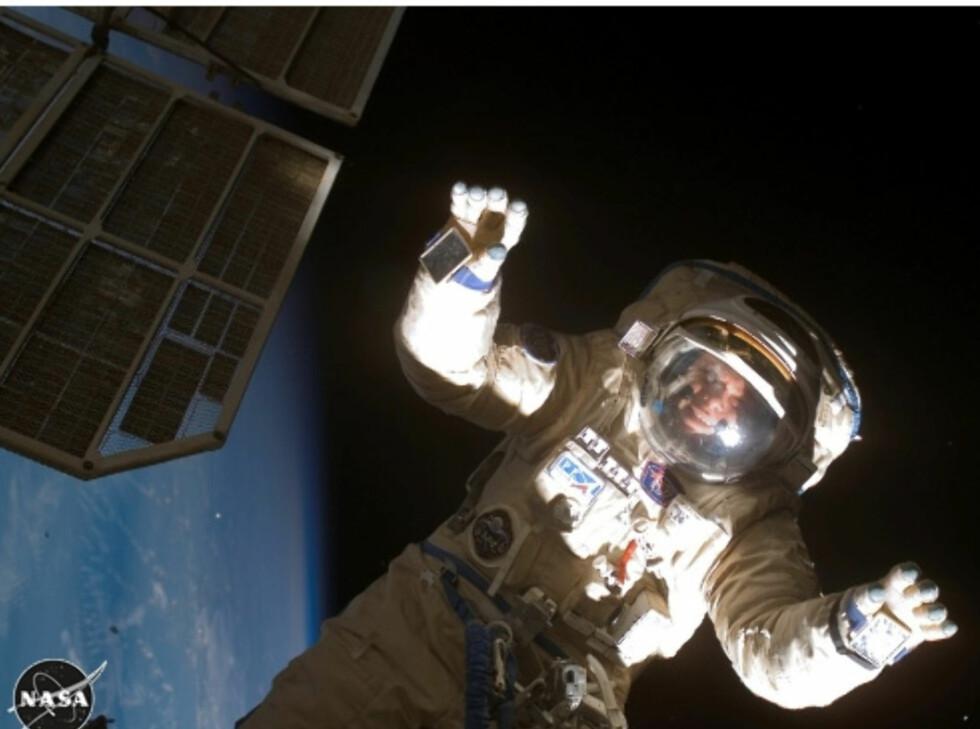 Astronaut på den internasjonale romstasjonen Foto: Space Adventures