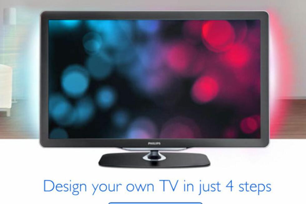 Slik <i>kan</i> Philips-TV-en se ut. Men det kan du raskt og enkelt endre på.  Foto: Philips.co.uk