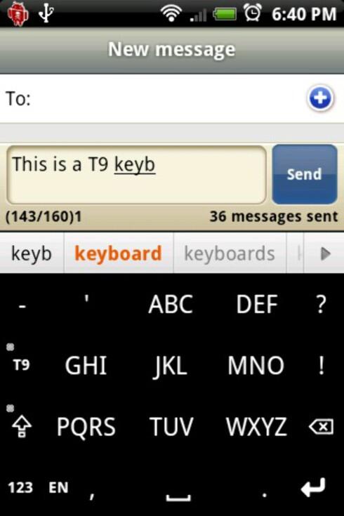 Med Smart Keyboard kan du skrive på den gode, gamle T9-måten.