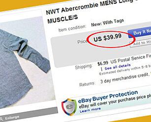 image: Denne genseren blir dobbelt så dyr