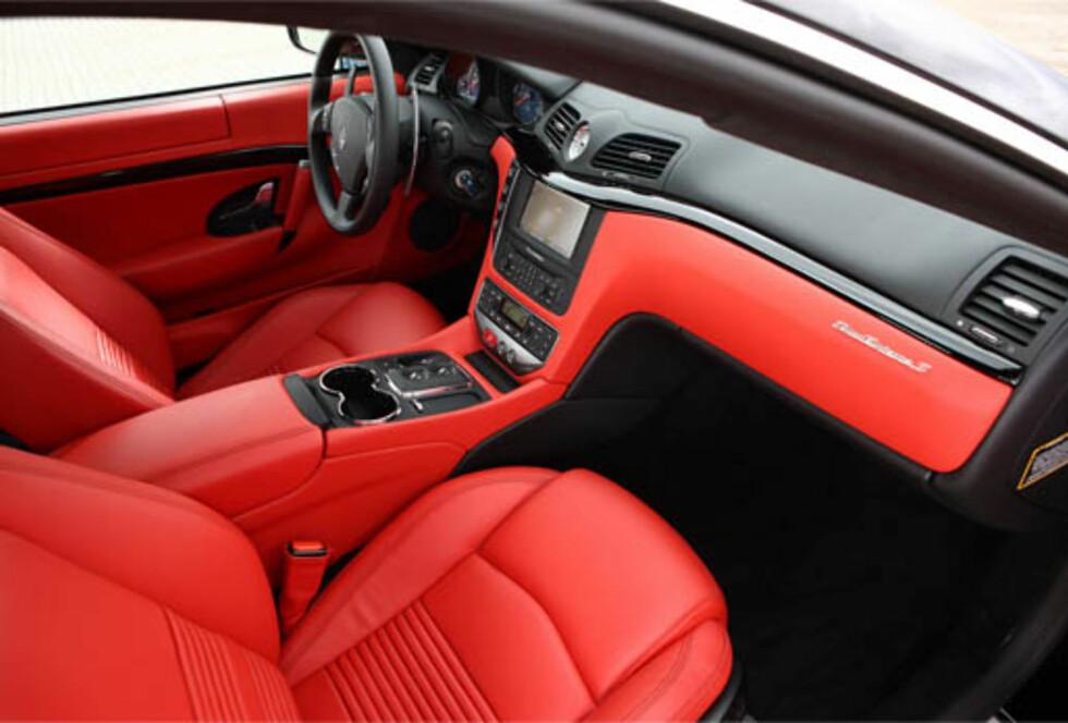 Slik ser standard-versjonen ut innvendig. Foto: Maserati
