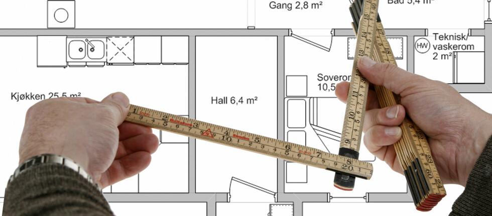 Det er mange som lurer på hvordan de skal måle opp boligen for boligselvangivelsen.  Foto: Per Ervland