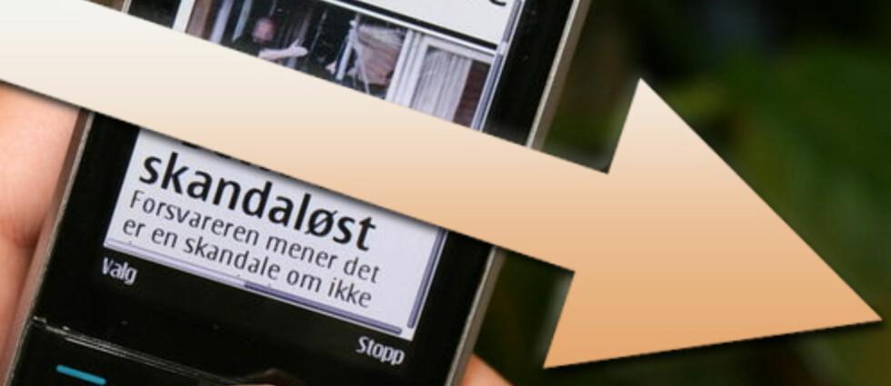 PÅ TIDE: Endelig settes prisene på kontantkort ned. Call Norwegian melder at de blant annet kutter prisene på datatrafikk på kontantkort med 66 prosent. Foto: DinSide