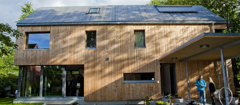 <strong>GJERRIG PÅ STRØM:</strong> Det første passivhuset i Oslo, i idylliske omgivelser på Skøyen. Foto: Per Ervland