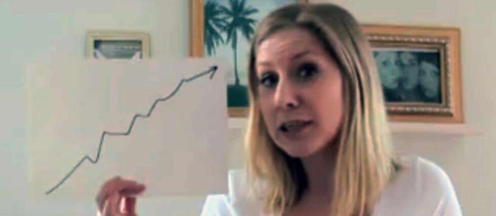 YOUTUBE-CV: Svenske Anna har opprettet en egen hjemmeside for å promotere seg selv. Her ser du et bilde fra hennes Youtube-cv. Foto: Youtube