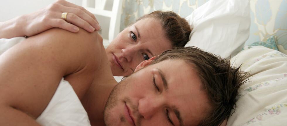 Er det ofte du våkner av at samboeren snakker i søvne? Foto: colourbox.com