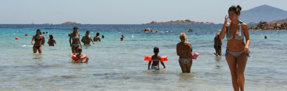 Sardinia har varmt badevann også i september. Foto: Stine Okkelmo