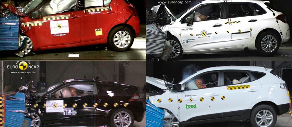 Både Citröen, Honda, Hyundai og Suzuki gjorde det denne gangen svært godt hos Euro NCAP Foto: Euro NCAP