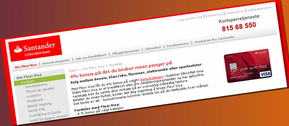 Hvordan kan Santander Consumer Bank tjene penger på sitt Flexi Visa-kort? Vi har forsøkt å finne svaret. Foto: Jogrim Aabakken