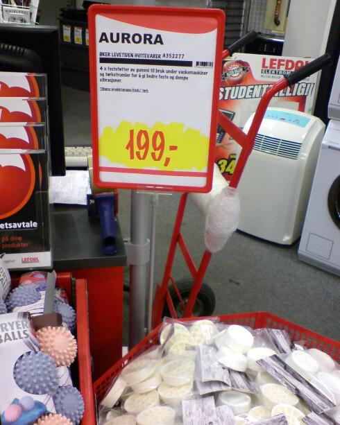 På lefdal.com er prisen 149 kroner. Men i Lefdals varehus på Alnabru i Oslo fant vi den høyeste prisen - 199 kroner. Foto: Jogrim Aabakken