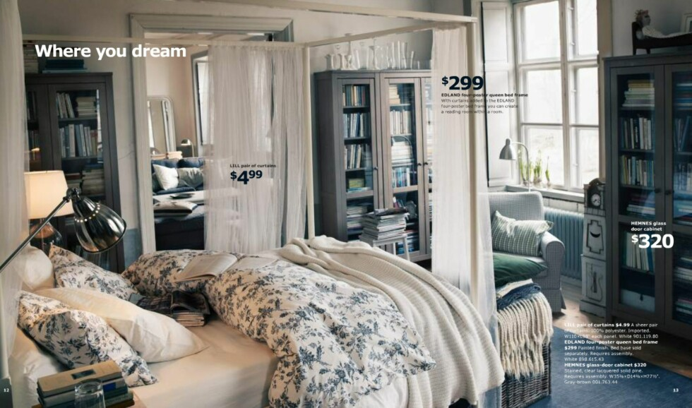 De lyse interiørene er fortsatt med. Skandinavisk stil møter New England-interiøret.  Foto: Ikea.com