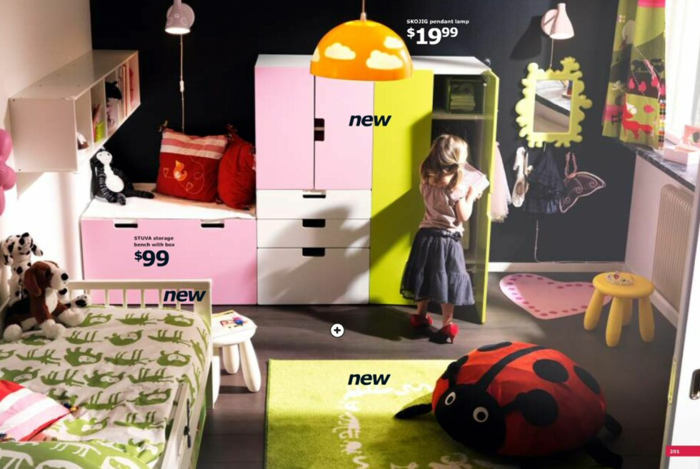 Nytt til barna: Soveromrsmøbler i friske farger. Foto: Ikea.com
