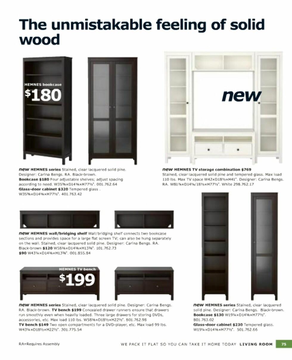Hemnes-serien i heltre for stuen.  Foto: Ikea.com