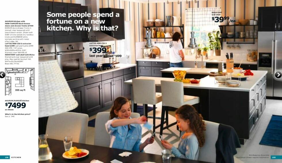 Nye, mørke kjøkkenfronter i brunsvart.  Foto: Ikea.com
