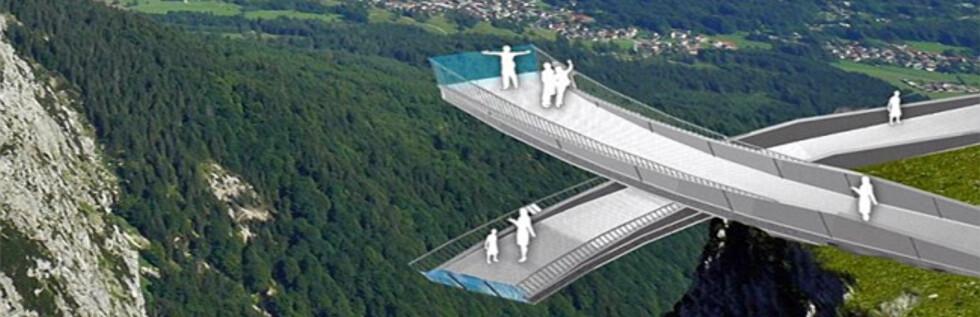 """RETT UT I INTET: Det er ikke tilfeldig at en av Tysklands aller ferskeste turistattraksjoner heter AlpspiX - med stor """"X"""" på slutten."""