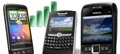 Mobilprodusenter sinte på Apple
