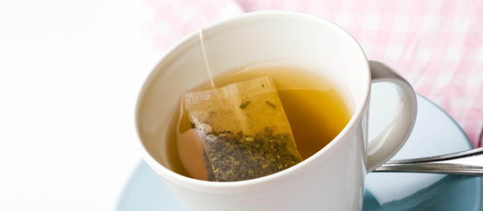Blant annet helsepåstanden om at grønn te forbedrer blodtrykket, kolesterolnivået, beinbygningen, tenner og syn er forkastet av EU-kommisjonen Foto: Colourbox