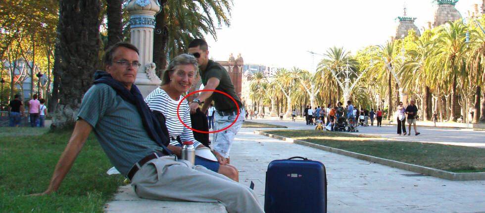 SNAKK OM BLINKSKUDD: Her blir den frekke tyven avslørt av Robin Holtedals kamera med selvutløser.  Foto: Privat
