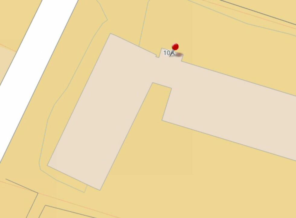 Hm. Ikke så lett å se på kartet hvilken vei boligen vender?  Foto: Finn.no