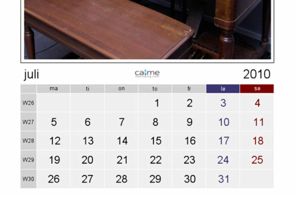 Flotte kalendere for utskrift