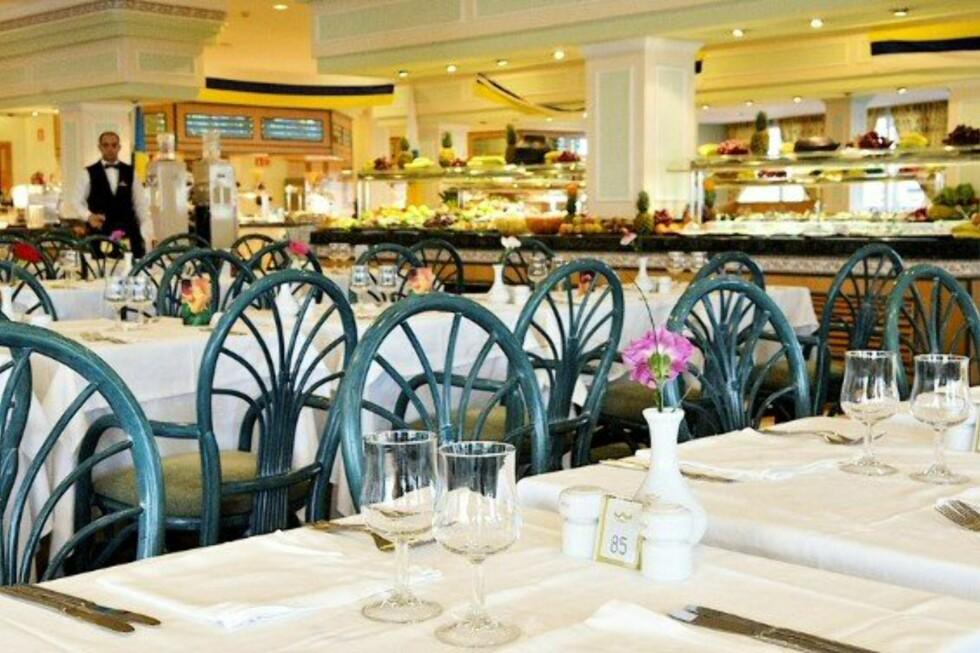 Spisesalen på Club Hotel Riu Vistamar ved Playa Amadores på Gran Canaria slik den presenteres hos Star Tour. Foto: Star Tour