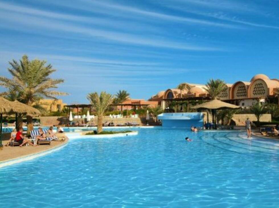 Bassengområdet til Three Corners Palmyra Resort i Sharm el Sheikh slik Star Tour presenterer det. Foto: Star Tour