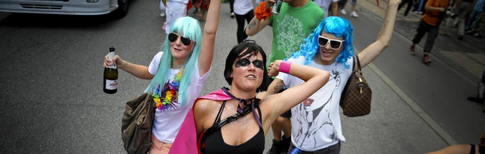 RIST LØS: Pride Parade er kåret til Københavns beste gatefest - og her er det helt gratis å svinge med. Foto: Christian Liliendah/Copenhagen Pride