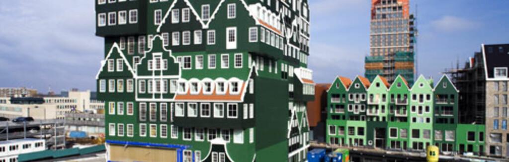 Fasaden på Hotel Inntel Zaandam gir ny betydning til ordet eklektisk. Foto: Roel Backaert