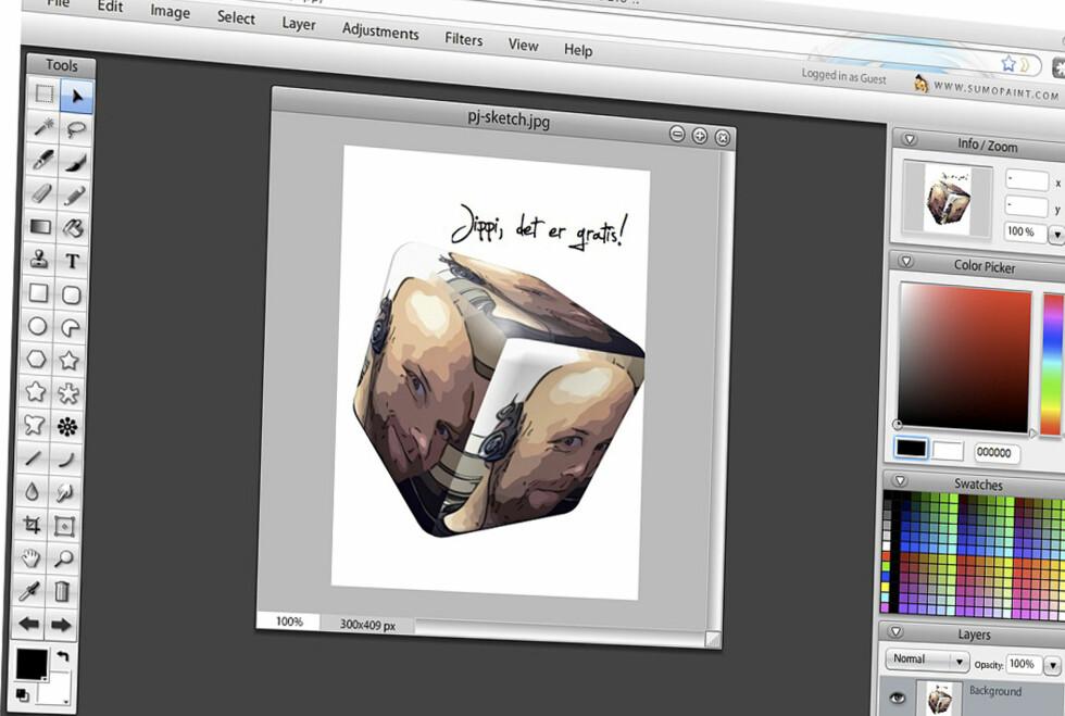 Sumopaint er en av mange gratis Photoshop-alternativer som har de fleste funksjoene du trenger. Faktisk kjøres det direkte i nettleseren!