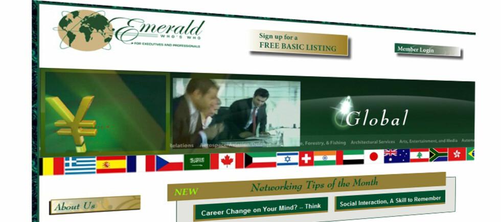 Dette selskapet lokker med eksklusivt nettverk. Foto: Emerald Who's Who