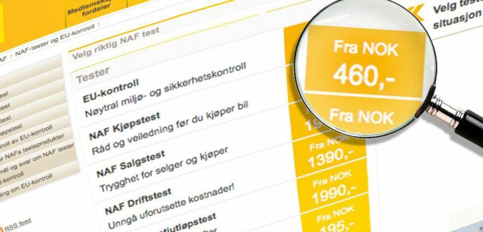 image: NAF med uriktig prisinformasjon