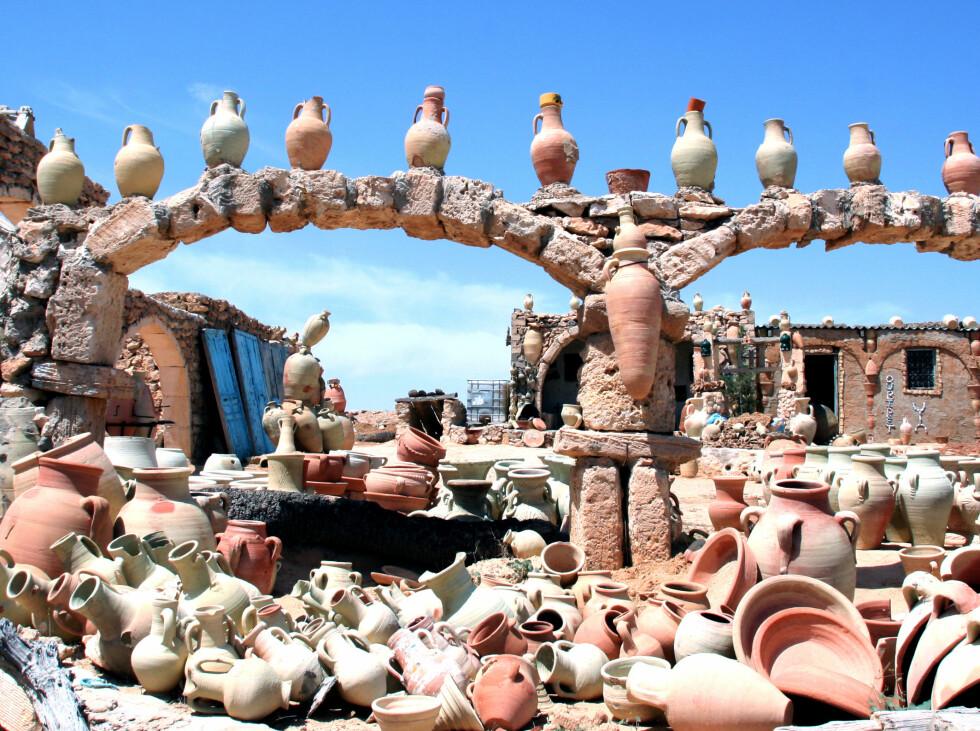 I landsbyen Guellala finner du flere slike pottemakerverksteder. Absolutt verdt et besøk! Foto: Kim Jansson