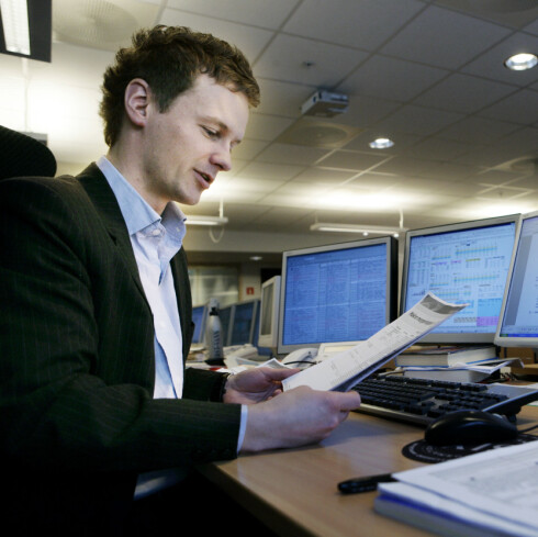 Bjørn Roger Wilhelmsen, seniorøkonom i First Securities, tror danske og norske kroner vil bli omtrent like mye verdt. Foto: First Securities