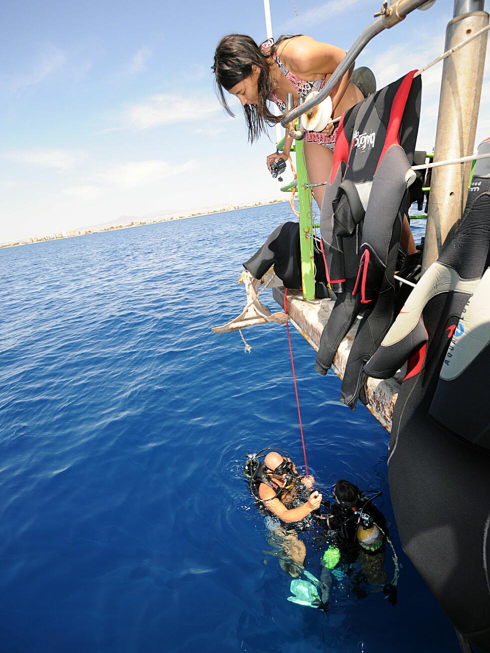 Lær å dykke på Kypros i ferien. Tilbudene er mange og gode.  Foto: Hans Kristian Krogh-Hanssen