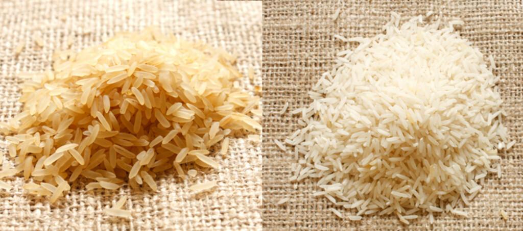 Erstatter man 50 gram hvit ris per dag, som tilsvarer cirka en porsjon, med samme mengde brun ris, reduseres risikoen for å utvikle diabetes med 16 prosent. Foto: Colourbox.com